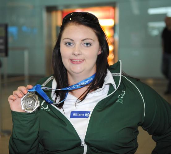Orla Barry displays her medal