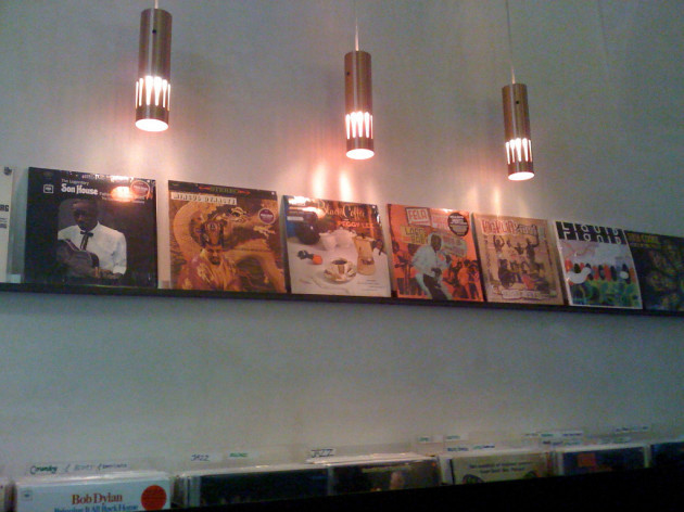Beautiful display at Sort Kaffe og Vinyl