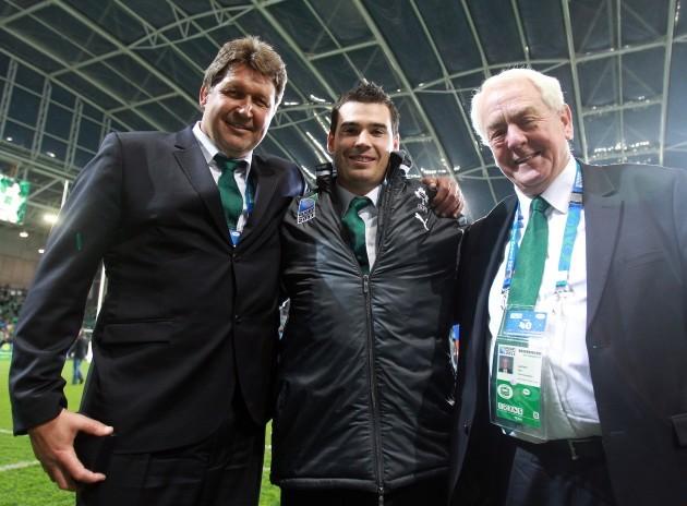 Gert Smal, Eoin Toolan and Alan Gaffney