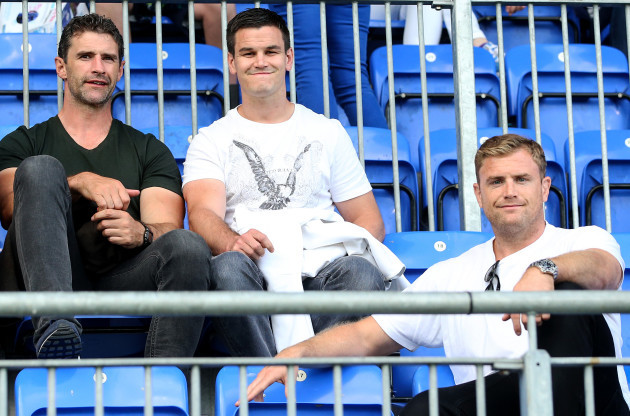 Jonathan Sexton and Jamie Heaslip at the game