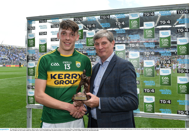 Electric Ireland Man of the Match at Kildare v Kerry - Electric Ireland GAA Football All-Ireland Senior Championship Semi-Final