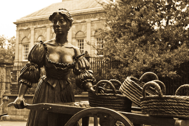 Famous Molly Malone Statue