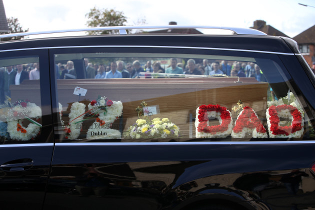 30/8/2016 Trevor O Neill Funeral. The funeral of T