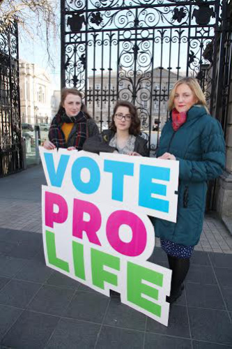 Voting Pro-Life are L to R Kathryn Freney, Paula F