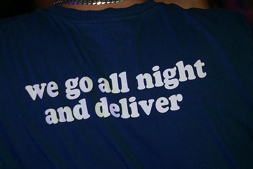 all night...