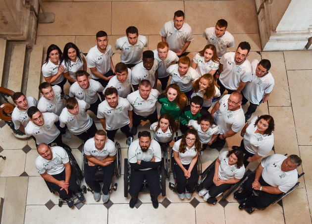 Announcement of the Irish Paralympic Team for the 2016 Rio Paralympic Games