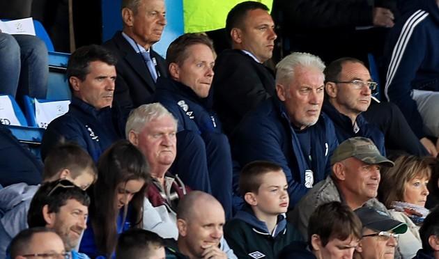 Roy Keane, Steve Guppy, Seamus McDonagh and Martin O'Neill