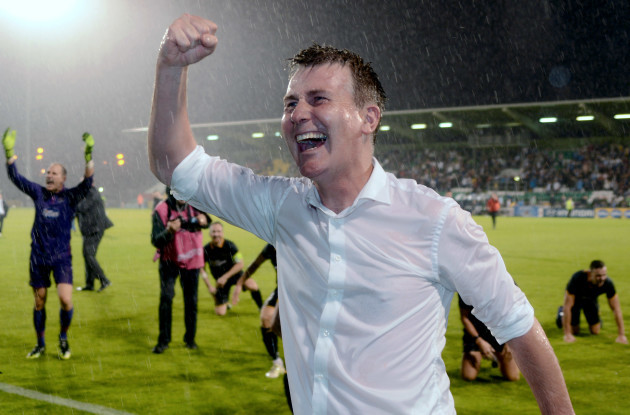 Stephen Kenny celebrates after the game