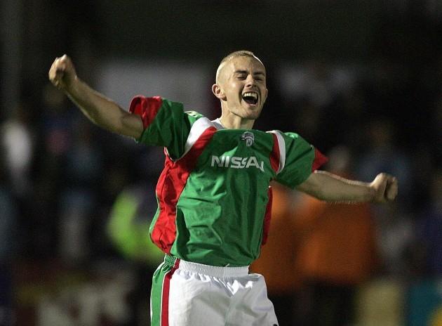 Liam Kearney celebrates 25/8/2005