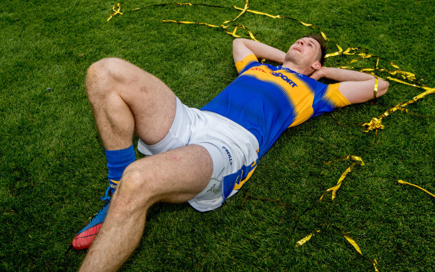 Seamus Callanan takes a moment on the field after the game
