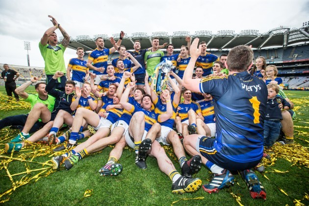 Tipperary team celebrate with the Liam MacCarthy cup
