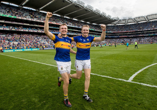John McGrath and Noel McGrath celebrate