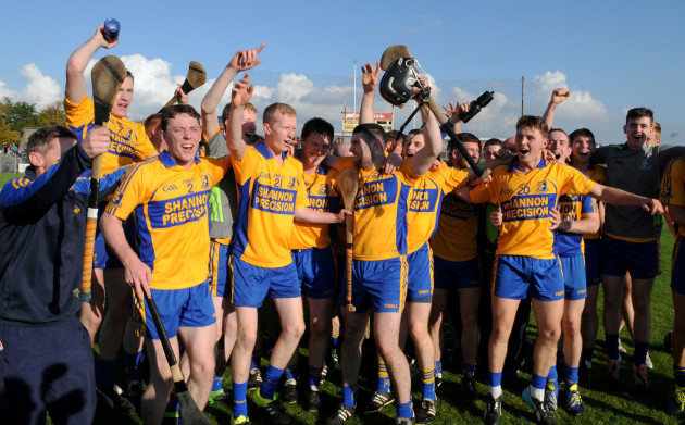The Sixmilebridge team celebrate winning