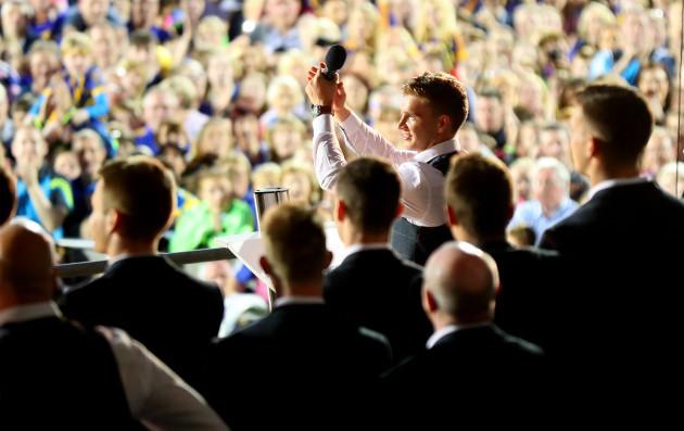 Brendan Maher applauds the crowd