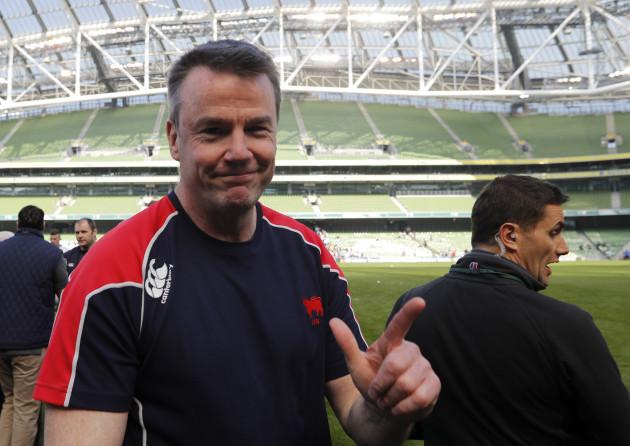 Andy Wood celebrates