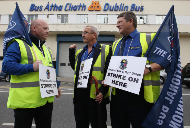 08/09/2016. Dublin Bus Strike. Pictured Dublin Bus