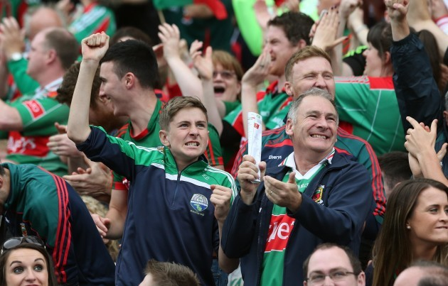 Mayo's fans celebrate a score