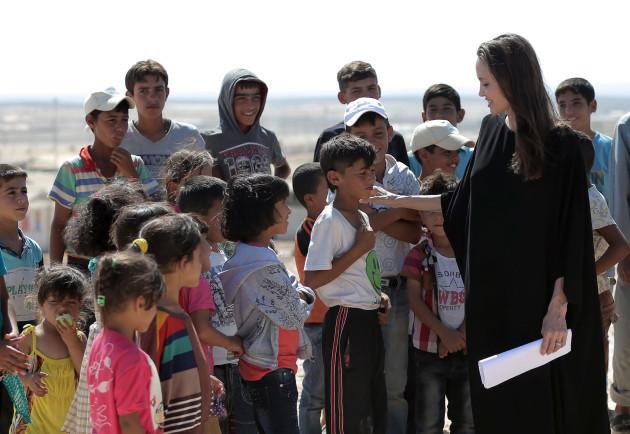 Mideast Syria Angelina Jolie