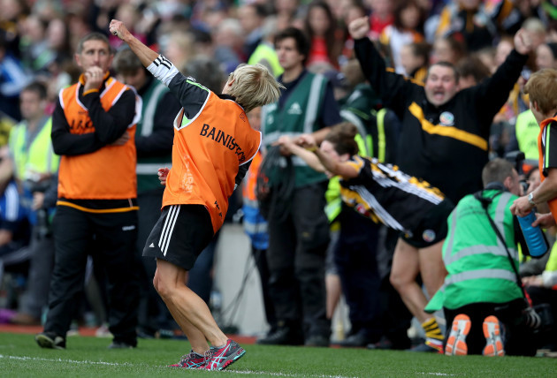 Ann Downey celebrates at the final whistle