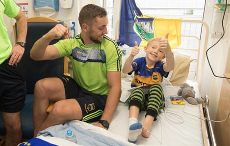 James Barry meets 6 year old Ronan Mulqueen