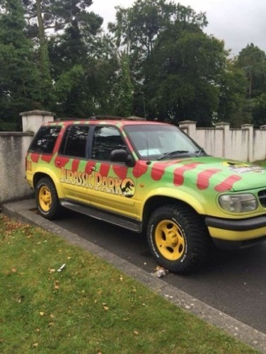 there's an actual replica of the jurassic park jeep on sale in kildare