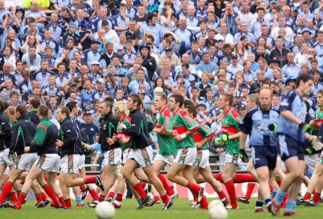 General view of Mayo players