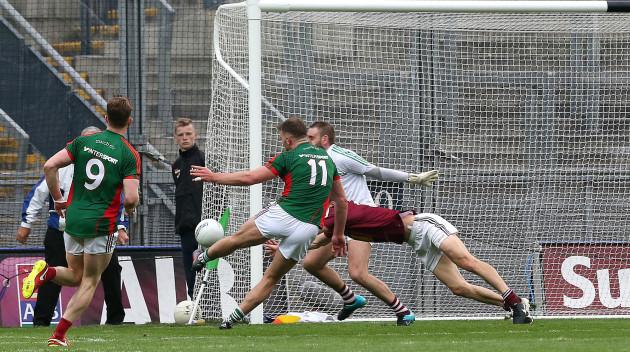 Aidan O'Shea scores a goal