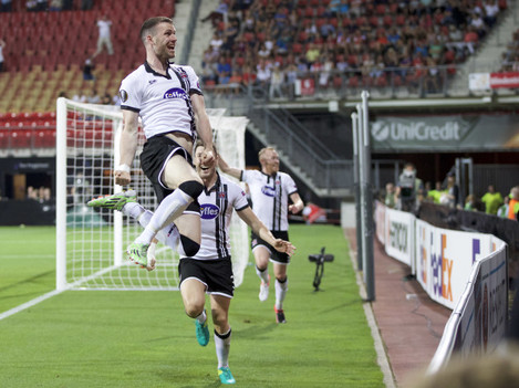 Ciaran Kilduff celebrates scoring the equaliser