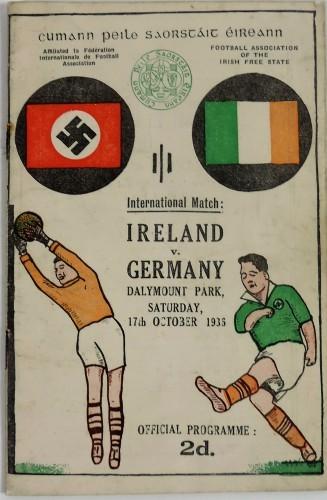 LOT 703 The Day Nazi Germany Played Ireland Soccer Programme €300 - 400