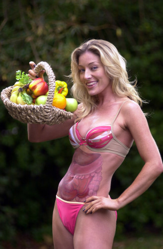 EATING HEALTHY BASKET OF FRUIT