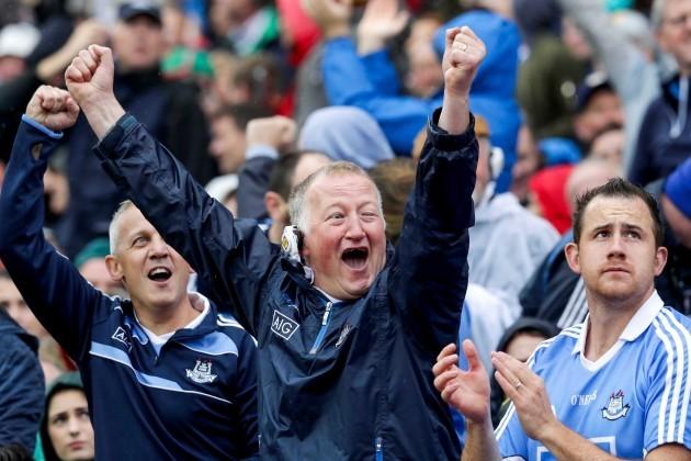 Dublin fans celebrate