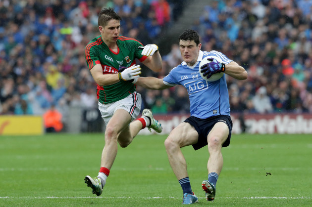 Diarmuid Connolly with Lee Keegan