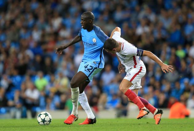 Manchester City v Steaua Bucharest - UEFA Champions League - Play-off Round Second Leg - Etihad Stadium