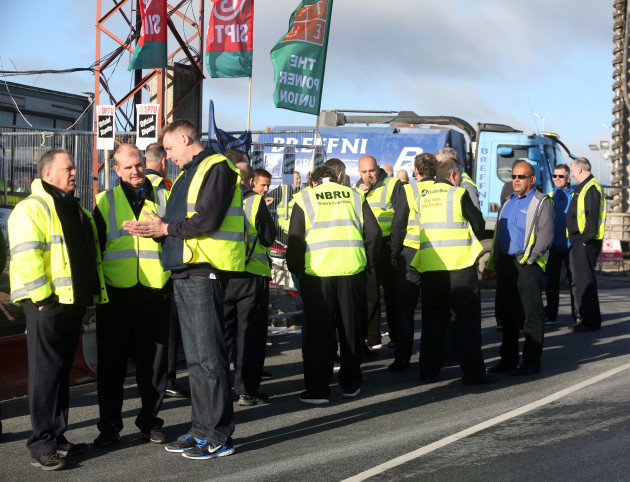 16/09/2016. Dublin Bus Drivers Strike. Pictured Du