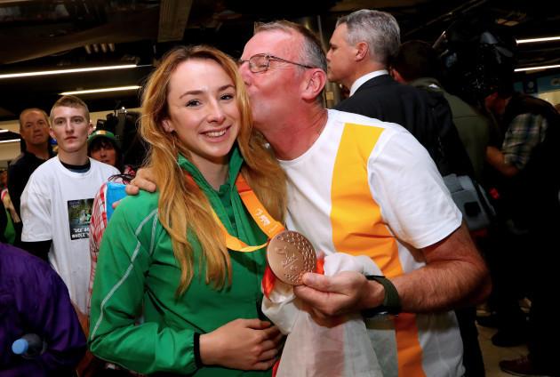 Ellen Keane with her father Eddie