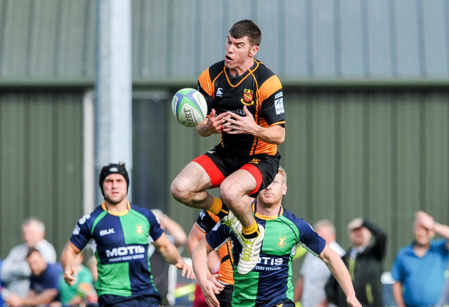 Rory O'Connor attempts to claim a high ball