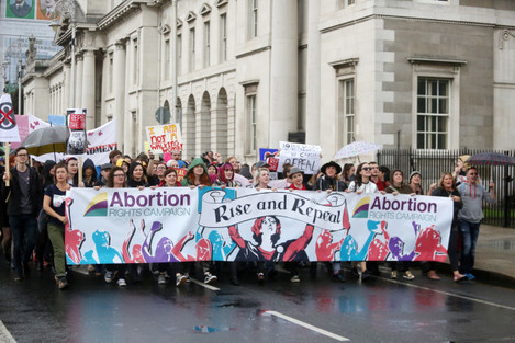 24/09/2016. 5th Annual March for Choice. Pictured