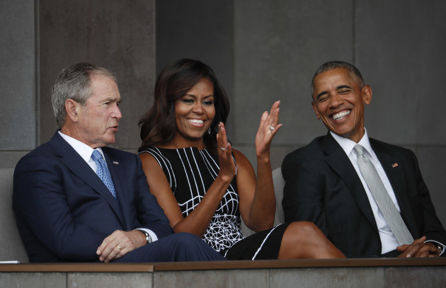 This Picture Of Michelle Obama Hugging George W Bush Has Become A