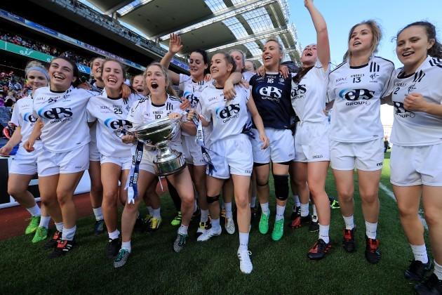 The Kildare team celebrate