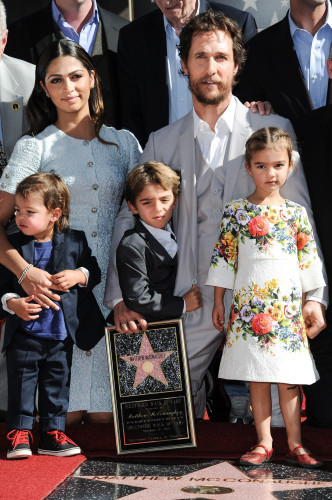 Matthew McConaughey's Hollywood Walk of Fame Star Ceremony - Los Angeles