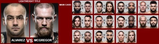 UFC 205 card
