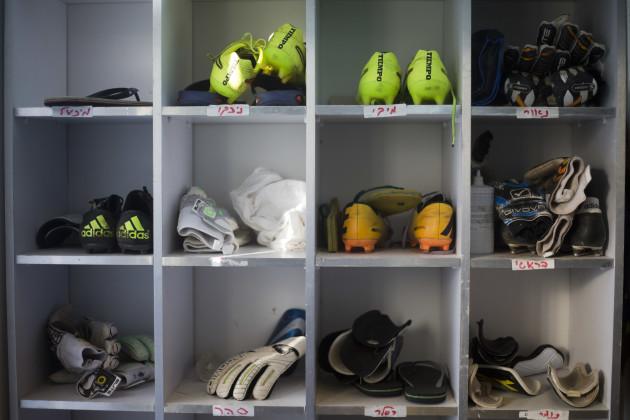 Mideast Israel Palestinians Settlement Soccer