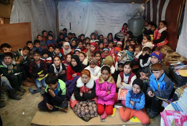 Mideast Syria School Age Refugees