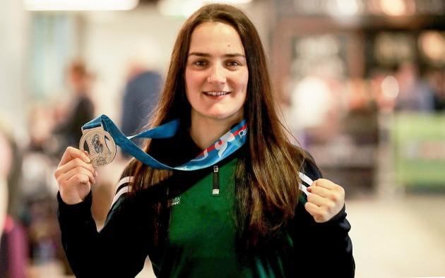 Kellie Harrington with her Silver Medal