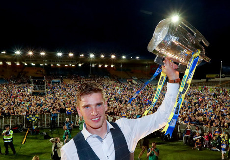 Brendan Maher with the Liam McCarth cup