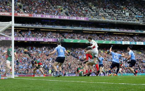 Bernard Brogan celebrates after his sides first goal