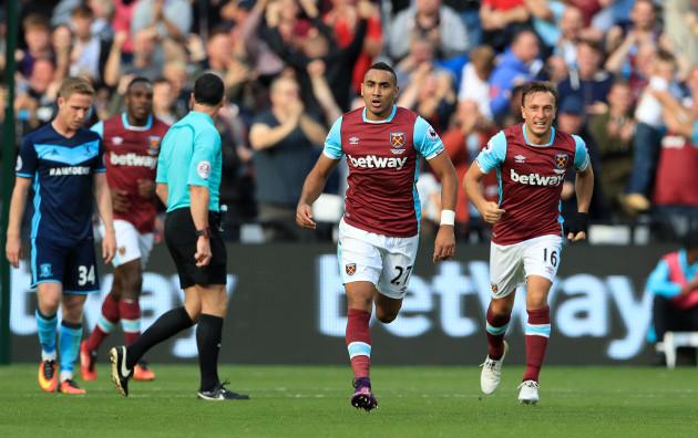 West Ham United v Middlesbrough - Premier League - London Stadium