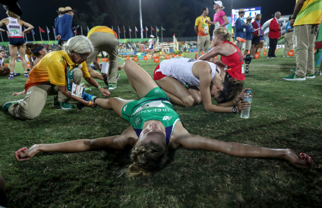 Natalya Coyle after finishing 7th