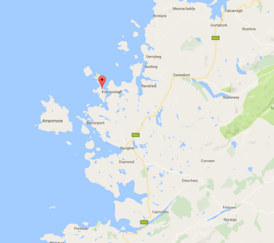 Cruit Island's location - off the northwest coast