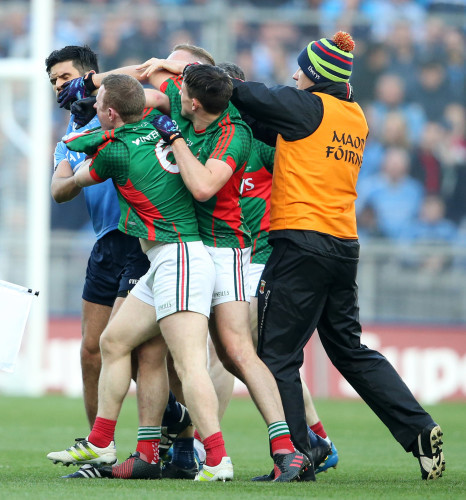 Tempers boil over between Dublin and Mayo players